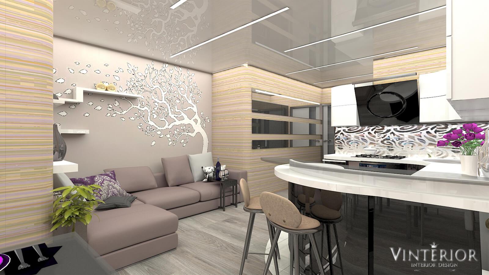Дизайн 1-комнатной квартиры ЖК «Отдых»