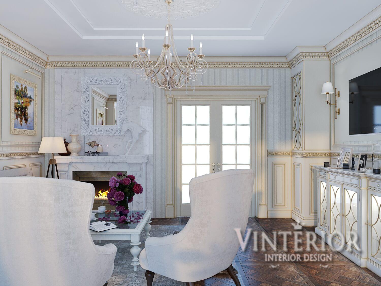 Квартира 3-х комнатная, гостиная в классическом стиле, г. Киев