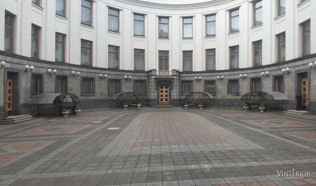 Внутренний двор Верховной Рады Украины, г. Киев