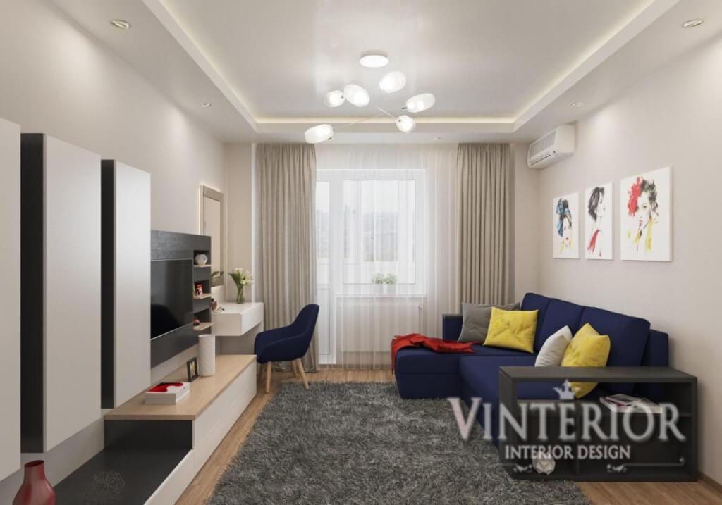 Квартира 2-х комнатная, Спальня-гостиная, г. Киев